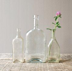 Trio of 19th century apothecary bottles