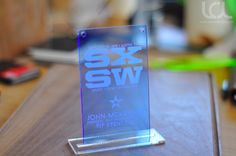 South by South West Film Festival Event Badge - VIP Pass - www.lasercuttinglab.com