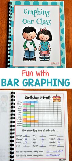 This is a wonderful book for helping your students understand bar graphs. For those classes who are already familiar with graphing, it can also be used as a fun getting to know you activity at the beginning of the year. It makes a cute class book, and is a great way for the students to learn about each other while graphing!