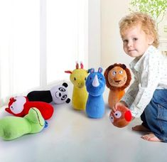 IPplay I Learn Toddler Baby Zoo Bowling Set plush Toy Age 18+months #IPlayILearn Baby Zoo, Plush Animals, Bowling, 18 Months, Toddlers, Kids Rugs, Learning, Toys, Ebay