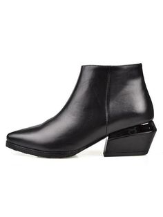Pointed Block Heeled Ankle Boots | Choies