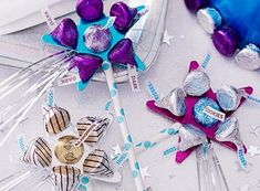 I'm back with another HERSHEY'S craft challenge! HERSHEY'S gave me the theme of Diversity and I was supposed to make a Diversity craft using HERSHEY'S KISSES. And this is what I came up with!   Those are diversity wands to celebrate how unique e