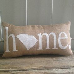 "South Carolina ""Home"" Pillow"