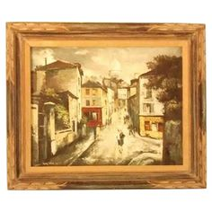 Hyung Chan Vintage Oil Painting of Paris on Chairish.com