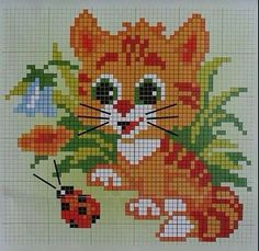 21 Cats And Kittens Reminding You What Cute Looks Like Cross Stitch Owl, Butterfly Cross Stitch, Cross Stitch Bookmarks, Cross Stitch Animals, Cross Stitch Flowers, Cross Stitch Charts, Cross Stitching, Cross Stitch Embroidery, Modern Cross Stitch Patterns
