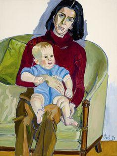 "ALICE NEEL - ""Ann Sutherland Harris and Neil"" (1978)"