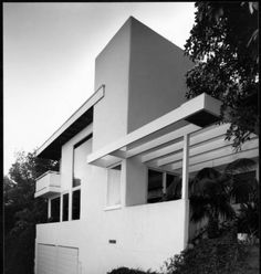 Exterior view of the Droste House, Los Angeles, 1940 :: Library Exhibits Collection 1940s, Usc Library, University Of Southern California, Cinema Posters, Mid Century Furniture, My House, Exterior, House Design, Architecture