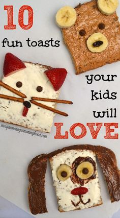 Kids Meals Looking for a quick way to make school morning breakfasts more fun? Check out… - Looking for a quick way to make school morning breakfasts more fun? Check out these 10 fun toast breakfasts for kids for inspiration. Breakfast Toast, Morning Breakfast, Breakfast For Kids, Best Breakfast, Breakfast Recipes, Breakfast Ideas, Toddler Meals, Kids Meals, Toddler Food