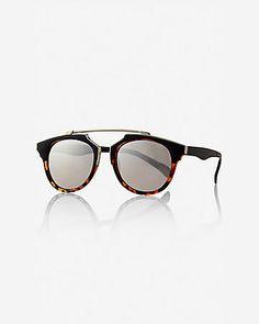 2d2de579bf Mirrored Retro Brow Bar Sunglasses from EXPRESS Cool Sunglasses