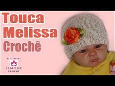 Passo a passo Touca Melissa em crochê - Professora Simone - YouTube