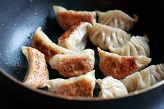 Gyoza (Japanese Dumplings) Ingredients:  2 cups napa cabbage 1/2 teaspoon plus 1/4 teaspoon salt 2 gloves garlic, minced and crushed into a paste 1 teaspoon grated ginger 2 tablespoons chopped Chinese chives 6 ounces ground pork 1/3 pound medium shrimp, shelled, deveined, and chopped 1/4 teaspoon sugar 1/2 teaspoon black pepper 1 1/2 tablespoon Japanese soy sauce 1 tablespoon sake 1 teaspoon sesame oil 1 pack Gyoza wrappers