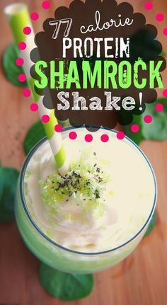 77 Calorie Shamrock Shake? This leprechaun is doing a healthy little jig! via Undressed Skeleton #stpattys #shamrocked #smoothie