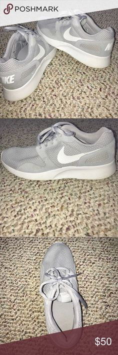 Nike KAISHI grey sneakers Light grey/white. Mesh material. Solid sole. Most comfortable shoes ever. Excellent condition. BUNDLE WITH OTHER ITEMS IN MY CLOSET FOR 15% OFF! Nike Shoes Athletic Shoes