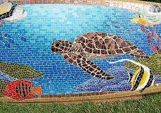 Kahaluu - detail turtle Close up of the honu (hawaiian green sea turtle).