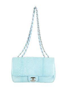 Light Blue Chanel Python Bag