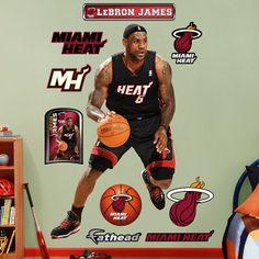 lebron james action fatheads | Fathead Lebron James Away - Wall Sticker Outlet