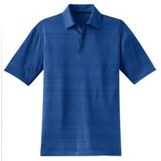 An ultra fine heathered texture gives this high tech shirt sophistication. Self fabric collar. Heat transfer label for tag free comfort. Three button placket. Die cut buttonholes and pearlized buttons with metal rims. Open hem sleeves. Side vents. Contrast heat transfer Swoosh design trademark on center back neck. Made of 4.87 ounce, 90/10 polyester/spandex Dri FIT fabric.