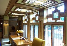Meyer May House, Grand Rapids Mi - everything in this house (including the house) was designed by Frank Lloyd Wright