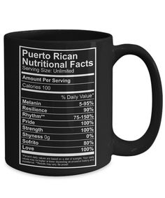 Aren't we all made out of pure Puerto Rican awesomeness with added 100% Pride & Love? This mug is a must have! The perfect GIFT for a Coffee Lover. Not Sold in Stores! Estimated delivery within 10-14