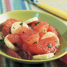 Did you know certain food helps fight fat? Try these simple calorie-burning recipes, like this refreshing honeyed grapefruit, to eat well while you lose weight, fast.   Health.com