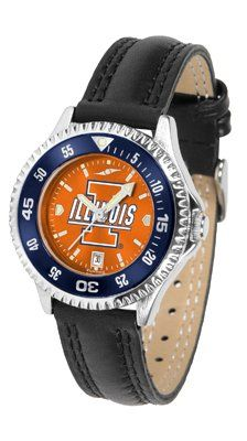 Illinois - Fighting Illini Competitor Anochrome- Poly/leather Band W/ Colored Bezel - Ladies - Women's College Watches by Sports Memorabilia. $78.73. Makes a Great Gift!. Illinois - Fighting Illini Competitor Anochrome- Poly/leather Band W/ Colored Bezel - Ladies