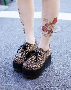 leopard print creepers??