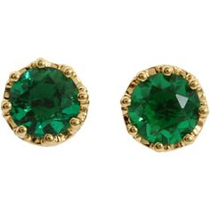 princess studs in green.