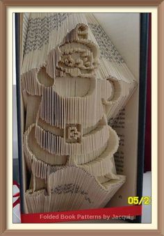 Santa by Jacqui Hendle 229 Santa No. of Pages: 469 Book Height (cm): 21 Method: Combi Cut & Fold Pattern: 229 Santa No. of Pages: 469 Book… Vegas Strip, Tour Eiffel, Book Folding Patterns Free Templates, Book Crafts, Paper Crafts, Sheet Music Crafts, Cut And Fold Books, Obelix, Rome Antique