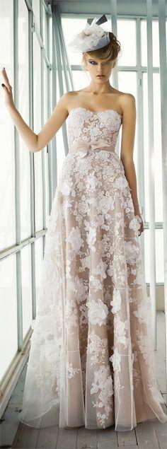 Mira Zwillinger 'Beatrice' available at Savvy Brides. http://savvybrides.com.au/wedding-dresses/mira-zwillinger-beatrice-a-line-organza-ivory-size-6