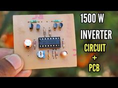 Make power inverter using sg 3525 ic. This circuit can drive up to 1500 Watts. It's a homemade inverter for better performance of your all home appliances. Electronics Mini Projects, Simple Electronics, Hobby Electronics, Electronics Components, Electronic Circuit Design, Electronic Engineering, Arduino, Sony Led Tv, Electrical Circuit Diagram