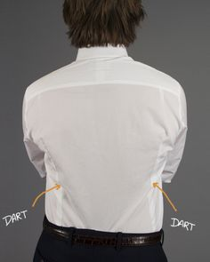 "If you have a problem with ""billowy"" shirt fabric at the lower back, add back darts to your shirts."