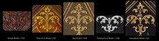Comparative Diagram - corner fleuron assemblages c 1540 assorted Parisian binders.
