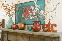 Decor palette - turquoise, copper and/or gold tones, browns and tans.