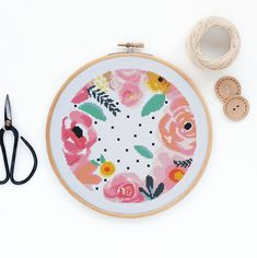 Spring Flowers - Modern watercolor flowers cross stitch pattern PDF - Instant download by nastyandcross on Etsy https://www.etsy.com/au/listing/597396811/spring-flowers-modern-watercolor-flowers