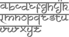 faux sanskrit font