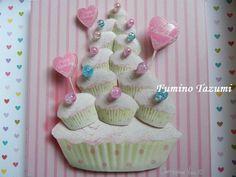 バースデーカップケーキの作品|アトリエすずらんのクラフト大好き