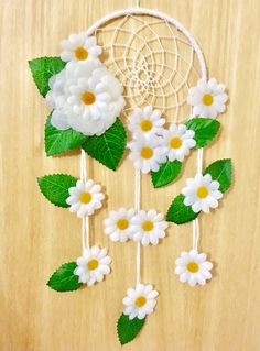 Excited to share the latest addition to my #etsy shop: Daisy Dreamcatcher - dream catcher - dreamcatcher - nursery decor - bedroom decor - flowers - baby shower - birthday - gift for her - flower Dream Catcher Nursery, Dream Catcher Craft, Dream Catcher Mobile, Craft Room Decor, Nursery Decor, Bedroom Decor, Home Decor, Dream Catcher Tutorial, Birthday Gifts For Her