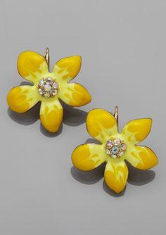 Springtime Flower Drop Earrings