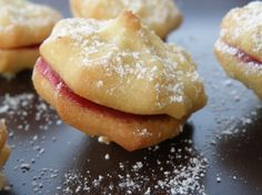 Viennese Whirls - egg free, dairy free. This would be nice with my dairy free cream pin.