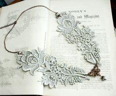 Resultado de imagen de lace jewelry hand painted