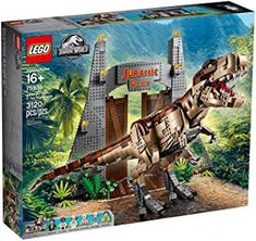 View Jurassic Park: T. rex Rampage in our ToyPro LEGO® store. Discover our huge collection of LEGO® sets now. Lego Jurassic Park, Jurassic Park Gate, Jurassic Park World, Jurassic Park Movies, Baby Dinosaurs, Dinosaur Toys, Harry Potter Memes, Harry Potter Fandom, Jurassic World