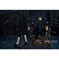 alexander mcqueen 2014 fall winter campaign1 Edie Campbell Gets Equestrian for Alexander McQueens Fall 2014 Campaign
