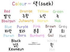 Kimbap Noona's Korean Lessons :) — okay so just a couple of things :): 색/saek comes. Learn Basic Korean, How To Speak Korean, Korean Words Learning, Korean Language Learning, Spanish Language, French Language, Learning Spanish, Italian Language, German Language