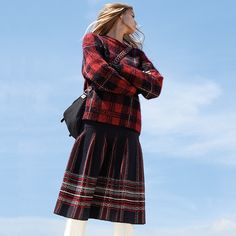 #MMissoni | TARTAN SWEATER & SKIRT | Winter 2014-2015 Collection |