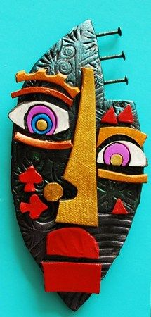 Picasso clay faces