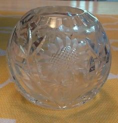 Vintage 1950's Lead Crystal Sunflower Ball Vase by indyagirl, $25.00