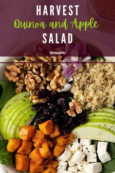 Harvest Quinoa and Apple Salad Healthy Dinner Options, Healthy Dinners, Healthy Recipes, Apple Salad, Clean Eating Salads, Healthy Eating, Quinoa, Perfect Salad Recipe, Skinny Ms