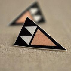 Sand Arrowhead Post Earrings