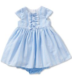 4b8f2749572 Marmellata Baby Girls 12-24 Months Striped Seersucker Dress Baby E