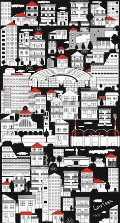 Larissa Town Greece - Illustration